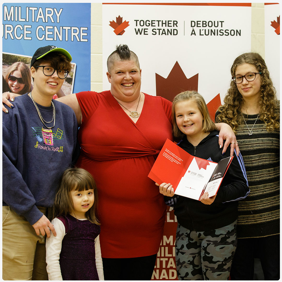 An image of a family at a Together We Stand event