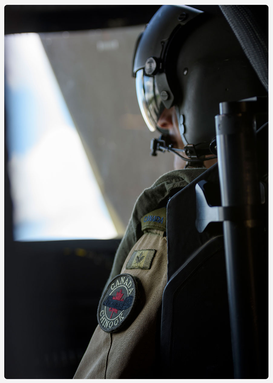 An image of a CAF member